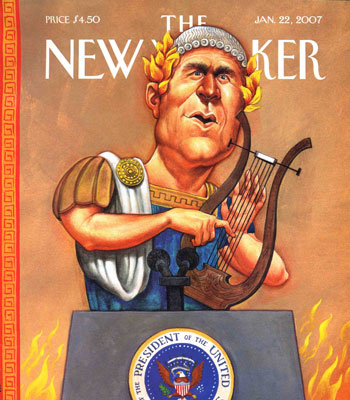 The New Yoker Cover: Bush as Nero