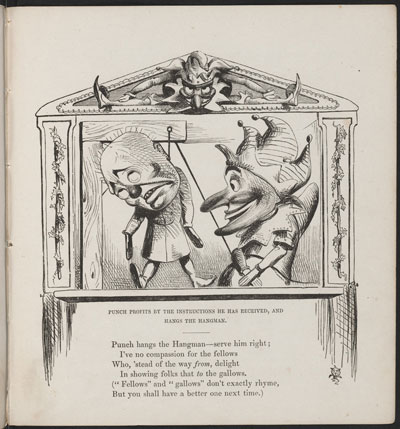 1854 image of Punch and Judy, by Papernose Woodensconce, Esquire